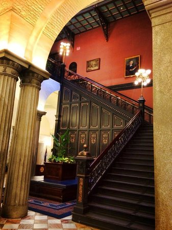 South Carolina State House : The wrought-iron staircase is fireproof.