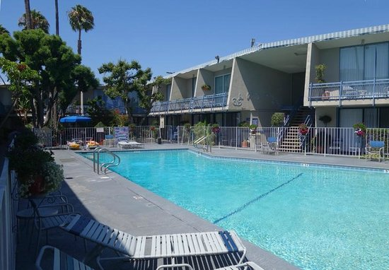 Travelodge Hotel LAX Los Angeles Intl : Poolside at the Travelodge LAX