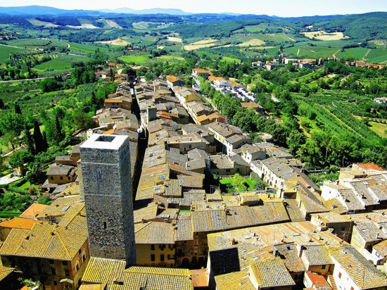 San Gimignano Bell Tower: View from the Torre Grossa