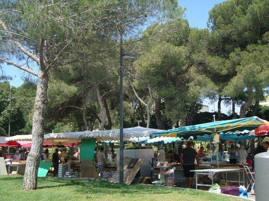 Best Western Hotel des Thermes : Monday market in front of hotel