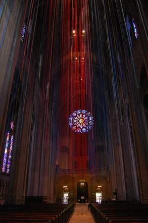 "Grace Cathedral: ""Ribbon"" Art in main cathedral"