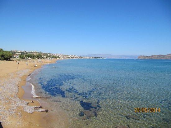 Panorama Hotel - Chania : Stranden 10 min.  gang derfra