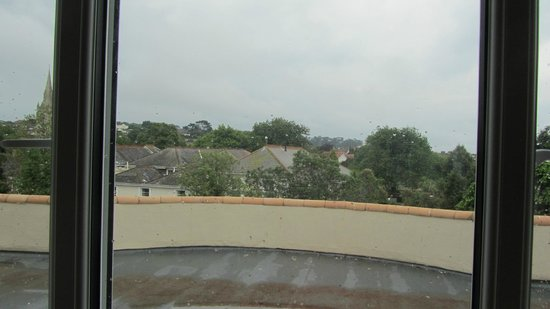 Trecarn Hotel: View from a Torquay Bedroom Window