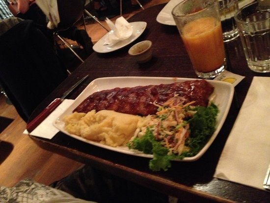 Giraffe - Royal Festival Hall: Check out these delicious ribs!