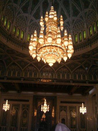 Gran mezquita del Sultán Qaboos: Splendido lampadario