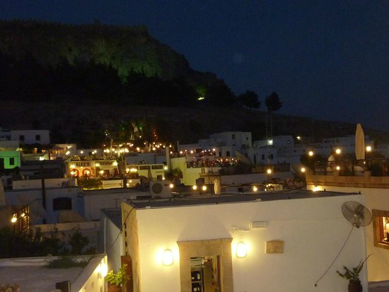 Lindos by night