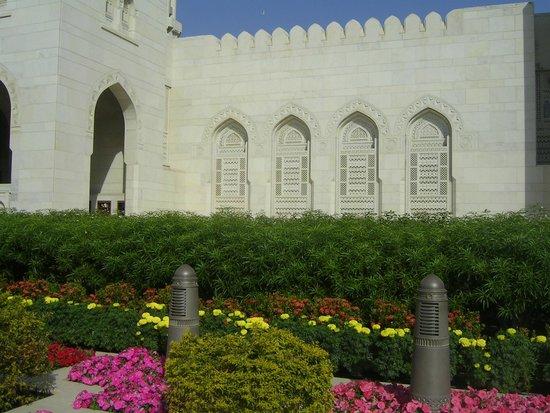 Gran mezquita del Sultán Qaboos: Esterno