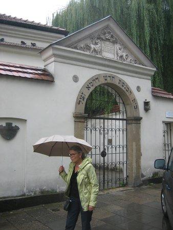 Cracovie : Indgangen til den jødiske synagoge