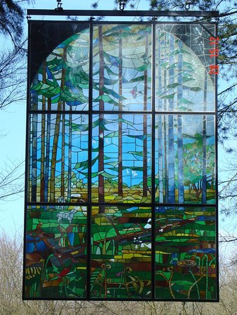 Royal Forest of Dean: Stained Glass at the Speech Houe