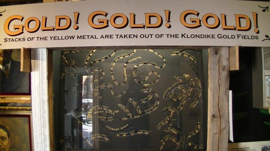 MacBride Museum: shows the size of gold that's found on the creeks in the Yukon