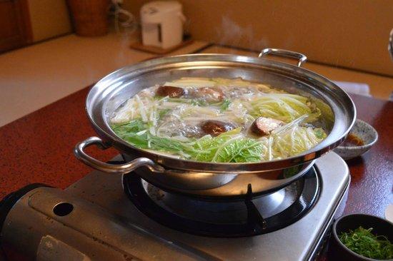 Iwaso : shabu shabu servito per cena