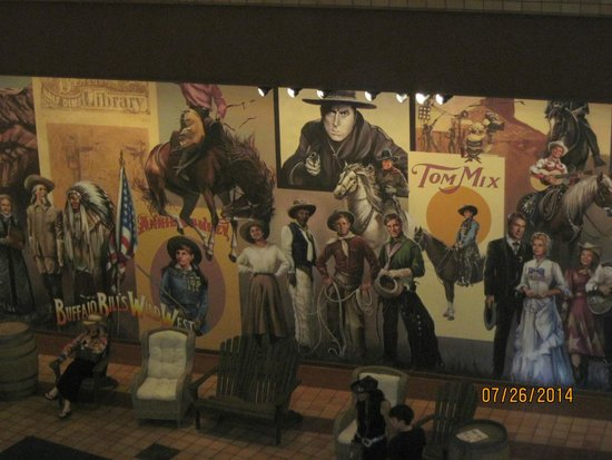 Autry Museum of the American West: Giant mural of Western history