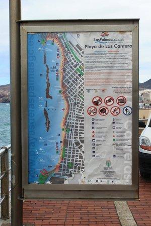 Playa de Las Canteras: las canteras map
