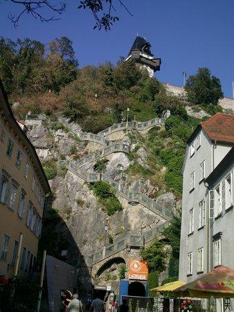 Uhrturm: zum Abschluß die Schloßbergtreppe