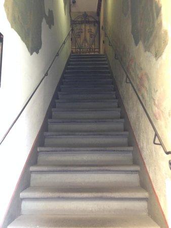Hotel Davanzati: Stairs to lobby from street level.