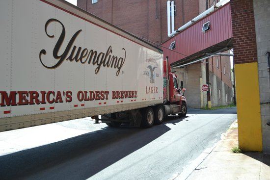 D.G. Yuengling and Son Brewery: Truck coming in to be loaded