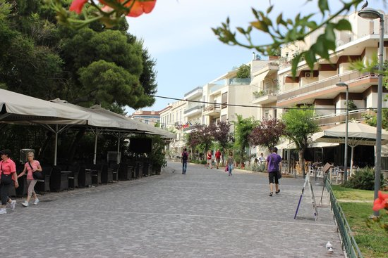 Phidias Hotel: Pedestrian street hotel is on