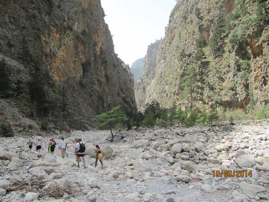 Samaria Gorge National Park: Samariakløften efter 3-4 timers gåtid