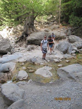 Samaria Gorge National Park: over stok og sten i kløften