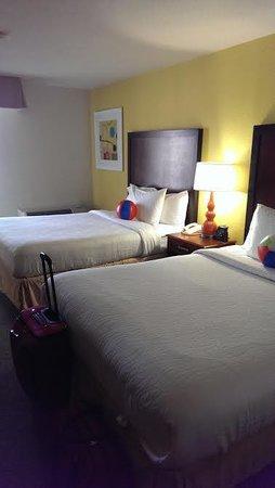 Hilton Garden Inn Orange Beach: Beach balls to welcome us on the beds!