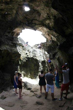 La Cueva del Indio: From inside la cueva