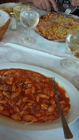Hotel Ristorante Pizzeria Il Timone : Gnocchetti mit sardischer Wurst und Tomatensauce - sehr lecker!