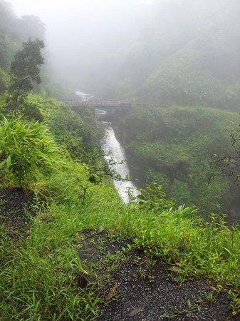 Hana Highway - Road to Hana : beautiful waterfall on hana highway
