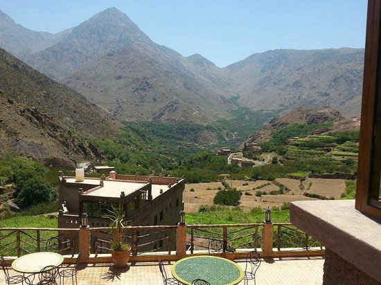 Toubkal Guide Day Tours : The view from Imlil lodge