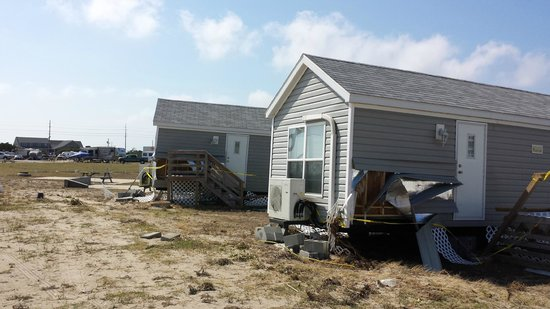 Camp Hatteras RV Resort and Campground: Hurricaine Arthur damage