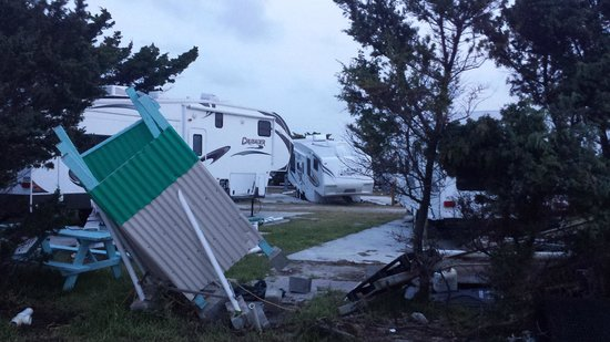 Camp Hatteras RV Resort and Campground : Hurricaine Arthur damage