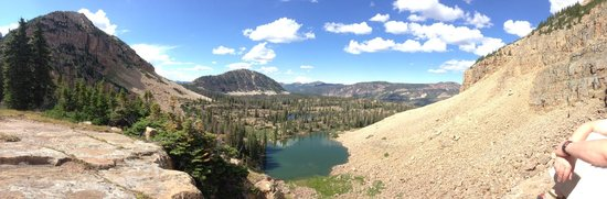 High Uintas Wilderness Area: Lovenia Lake view from Notch pass