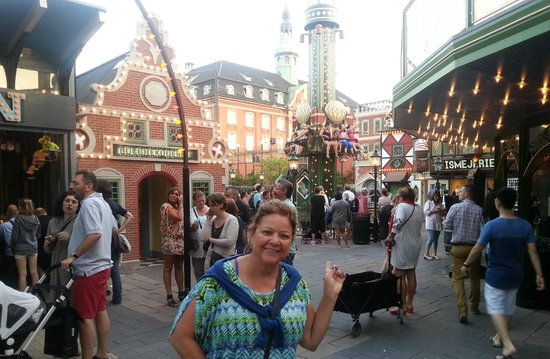 Tivoli Gardens: the weather was great