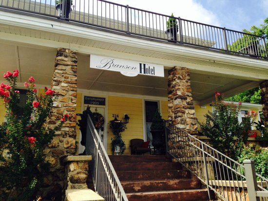 The Branson Hotel: The front porch