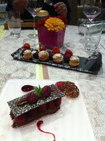 La Marande : Dessert and final tray of goodies