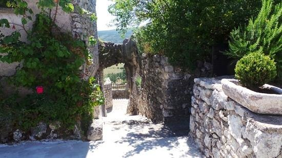 Chateau de Trigance : l'ancien pont-levis