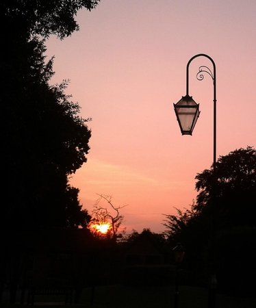 The Charlecote Pheasant Hotel : sunset in the garden