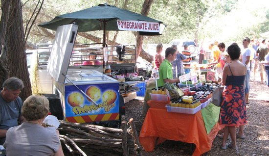 Wild Oats Community Farmers Market: There is a lot of fresh product's to buy.