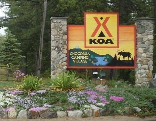 Chocorua Camping Village: Front Entrance - Main Welcome Sign