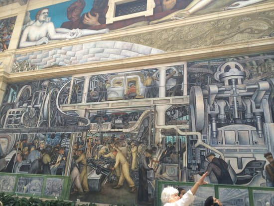 Diego rivera murals picture of detroit institute of arts for Detroit rivera mural