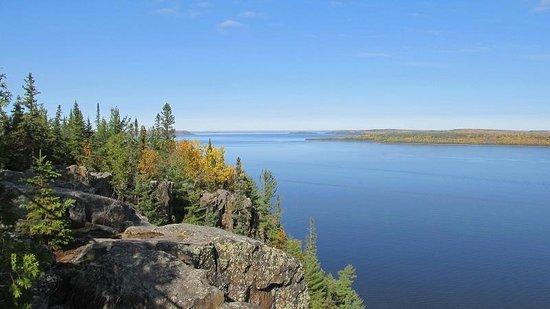 Devil's Rock Hiking Trail: view northeast toward Quebec