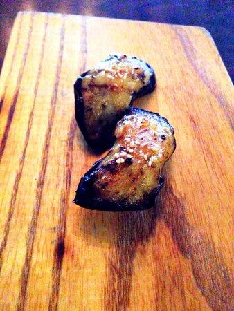 Uchi: Eggplant nigiri