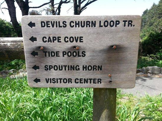 Cape Perpetua Scenic Area: The sign