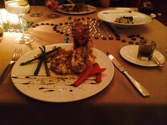 Blue Diamond Luxury Boutique Hotel: Grilled lobster tails - what a treat!