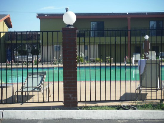 Discovery Inn Ukiah, CA: Murky Pool/Cold Unheated. They advertise 4 indoor jacuzzis, 1 is warm no jets work, others freez