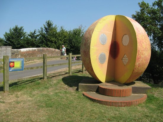 Maunsel Lock: Somerset Space Walk, is a scale model of the solar system with the sun centered on the lock