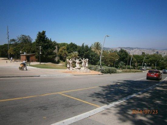 Parc de Montjuic : Памятник сардане - нац. танцу Каталонии