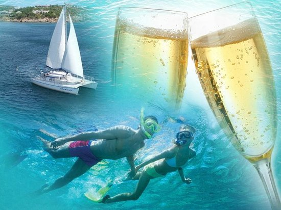 Cruise Ship Excursions - Champagne Catamaran