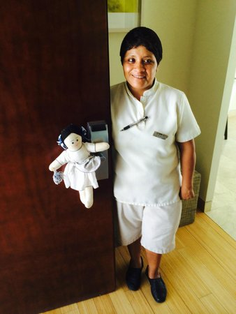 Blue Diamond Luxury Boutique Hotel: Our housekeeper Rosi :-)