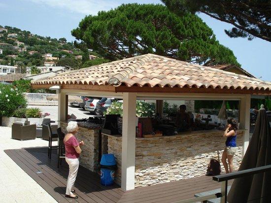 Hotel de la Plage : le bar en terrasse