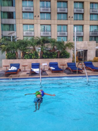 Omni San Diego Hotel : My 5 year old had the pool to himself one afternoon.